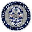 Brady Police Department Badge/Patch/Coin