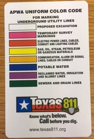 APWA Uniform Color Code